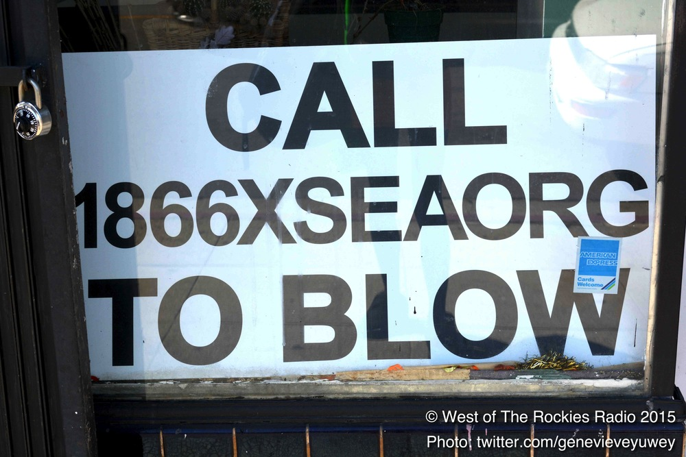Sign on Lynn's shop-front window.