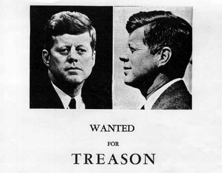 Handbill circulated one day before John F. Kennedy was assassinated in Dallas, Texas. (Public Domain)