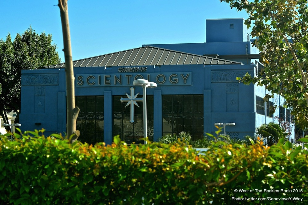 """The Big Blue"" Scientology building in Los Angeles."