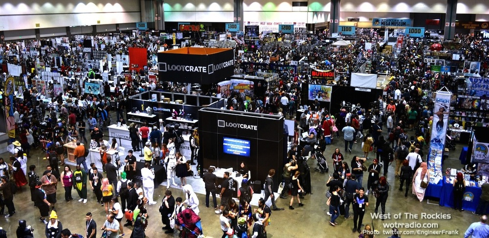 An impressive  aerial view of Comikaze 2015.
