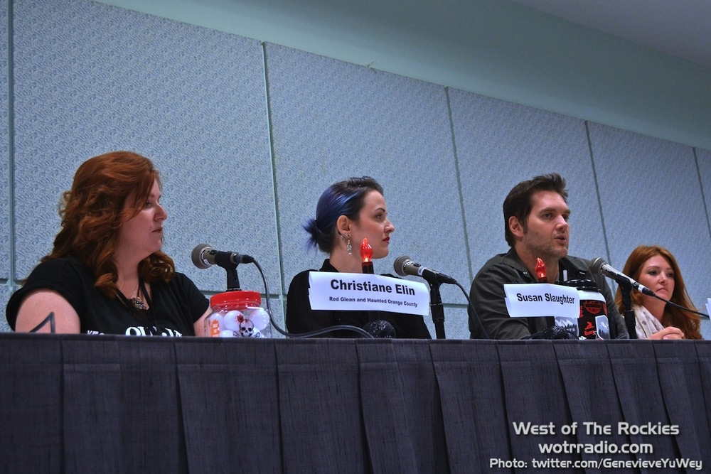 "The ""I Ain't Afraid Of No Ghost!"" panel. From left: Christiane Elin, Susan Slaughter, Ben Hanson, and Kristen Luman."