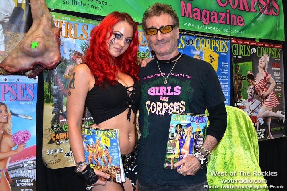 "Sara Hedgren and R.S. ""Corpsy"" Rhine at the Girls and Corpses booth."
