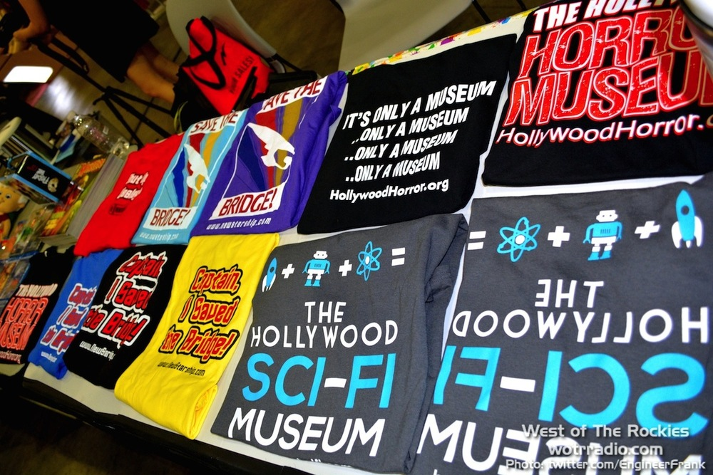 Awesomely nerdy merchandise at the Hollywood Sci-Fi/Horror Museum booth.