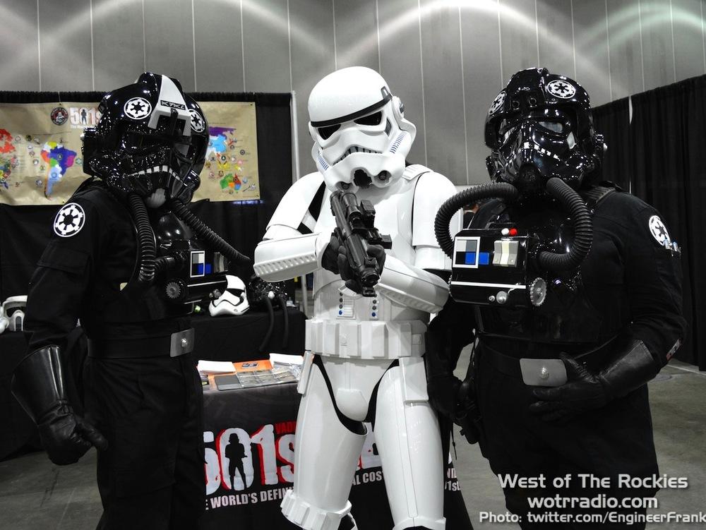 "The ""eddi troopers"" at the eddi app booth."