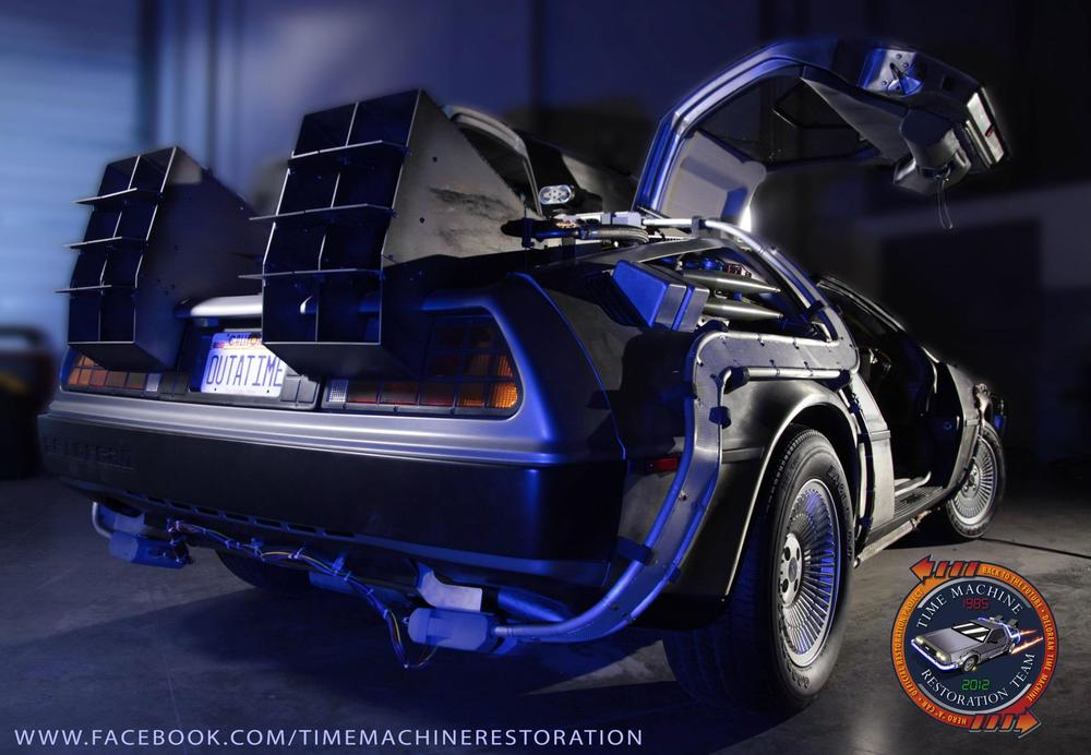The DeLorean Time Machine, restored to its full glory.