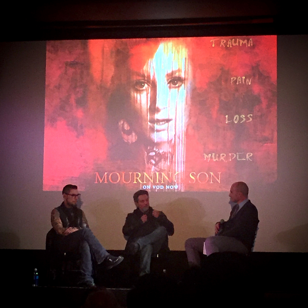 Dave Navarro and Todd Newman answering questions at Tuesday night's film screening. Photo courtesy of Dan Cleary .