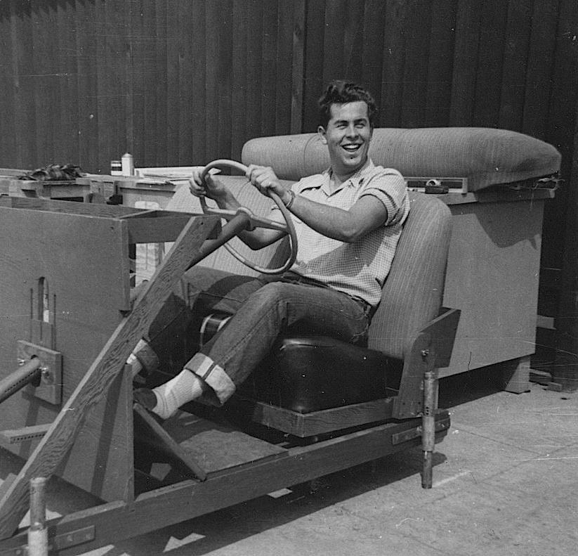 Bob Gurr, at the Art Center College of Design in LA, aged 18 (1950).