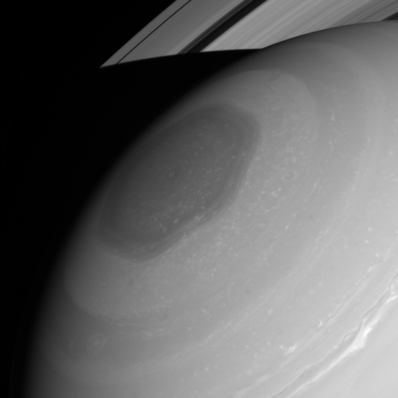 An image captured in July 2013 by NASA's Cassini spacecraft, clearly showing Saturn's amazing hexagonal cloud formation, said to be caused by on over 30-year-old jet-stream. Photo Courtesy of: NASA/JPL-Caltech/Space Science Institute.