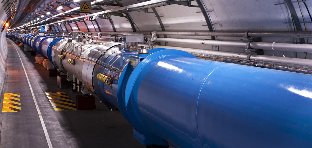 View of the LHC Tunnel Sector 4.  Photo Courtesy of CERN.