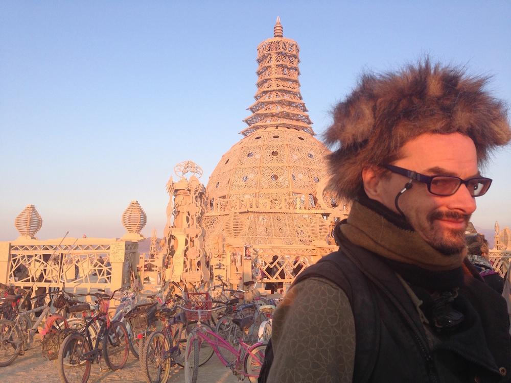 Dr. Graham St. John at Burning Man 2015. Photo courtesy of edgecentral.com.