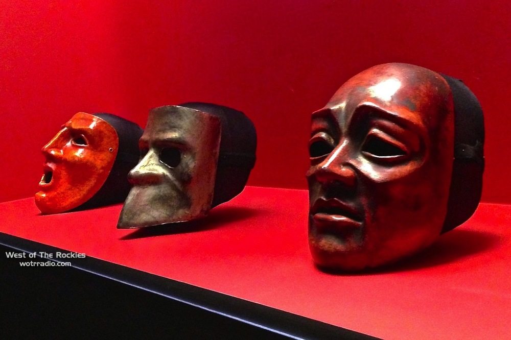 Actual Venetian masks featured in Eyes Wide Shut.  Photographed on display at the Stanley Kubrick exhibit at the Los Angeles County Museum of Art (LACMA) on March 2013.