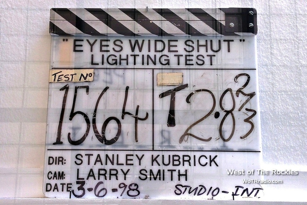 Film slate from Eyes Wide Shut production; on display at LACMA - March 2013