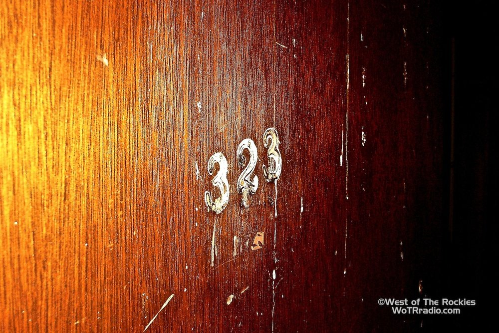 The door  Room 323 in the asylum/psychiatric ward of LVH, infamous for its documented cases of ghostly attacks. Visitors were frequently instructed not to provoke or antagonize the unseen entities that dwell in this room. This room was known as one of the most active locations of the hospital.  April 2011 ©WoTRradio