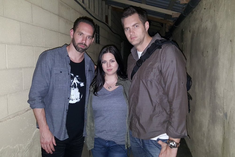 Ben Hansen, inside Waver Hills Sanatorium for an episode of Paranormal Lockdown with Nick Groff and Katrina Weidman. (Source)