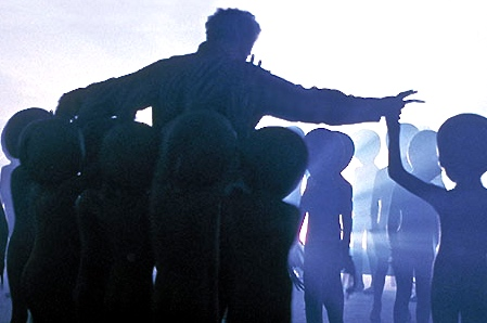 Scene from Close Encounters of the Third Kind (1977) written and directed by Steven Spielberg.