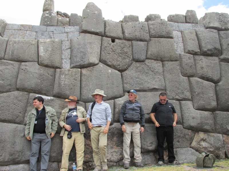 The polygonal wall of Sachsayhuaman: Every stone is of a different shape and size. Many fit so tightly together that you can't fit a human hair in the joints. Image by  HiddenIncaTours.com