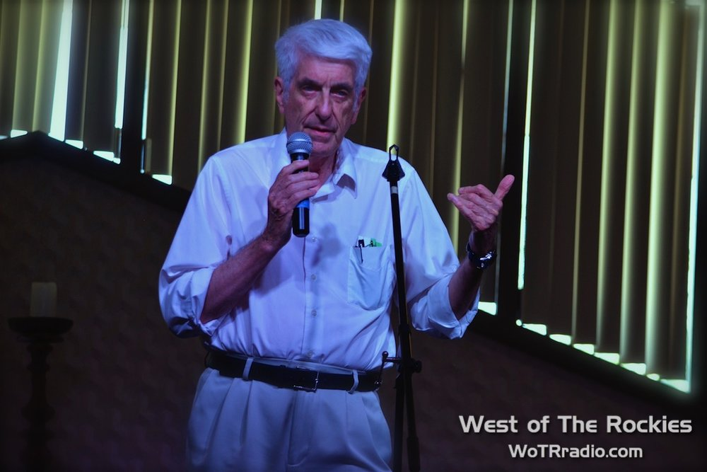 "Author & ufologist, Dr. Jacques Vallée, during his lecture: ""What Do We Know About The Material Composition of UFOs."""
