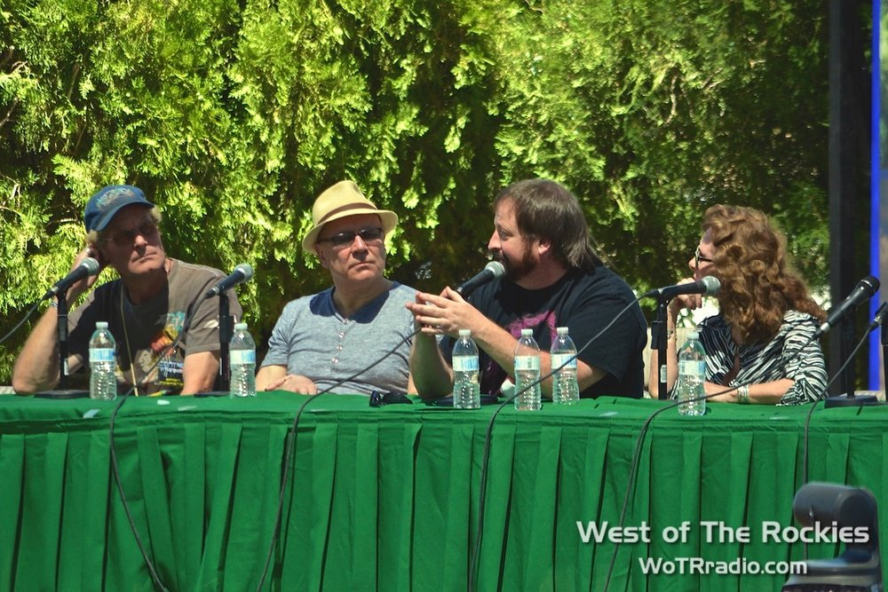 Brien Foerster, Andrew Collins, Mike Bara & Linda Moulton Howe during the Wilcock Panel: The Disclosure Tipping Point, hosted by David Wilcock.