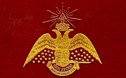 Cover of Morals and Dogma of the Ancient Scottish Rite of Freemasonry (1872) by Sovereign Grand Commander of the Scottish Rite's, Albert Pike.