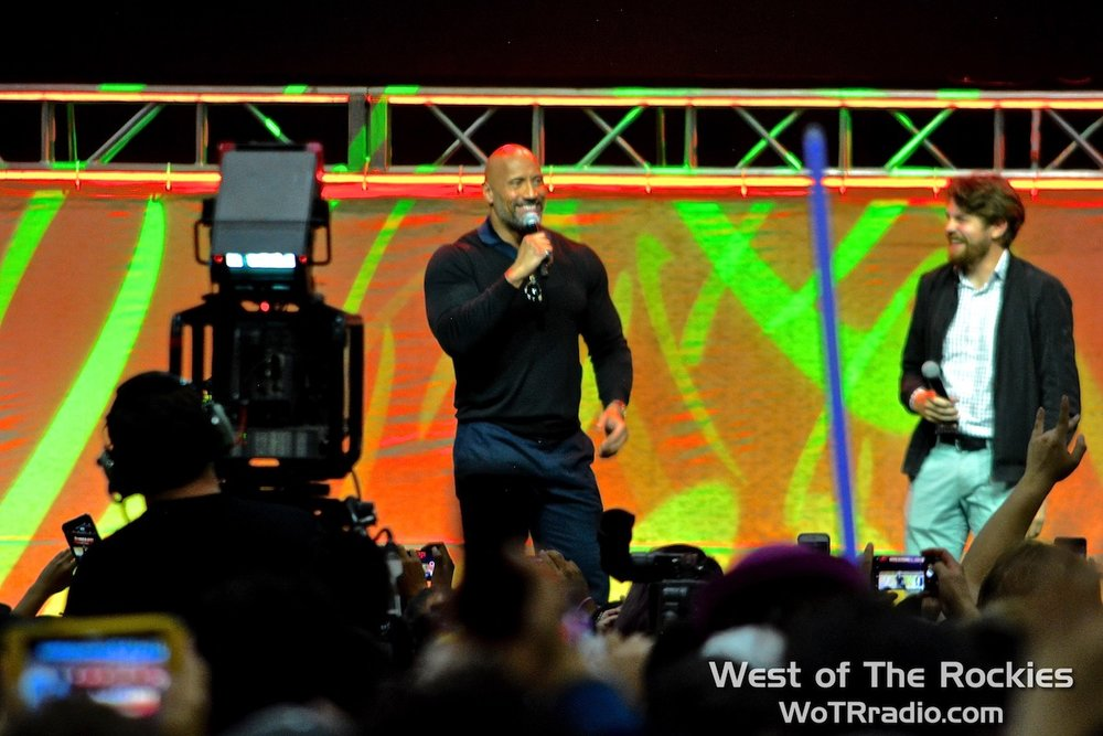 "Fan-favorite and Guest of Honour, Dwayne ""The Rock"" Johnson on the Main Stage."