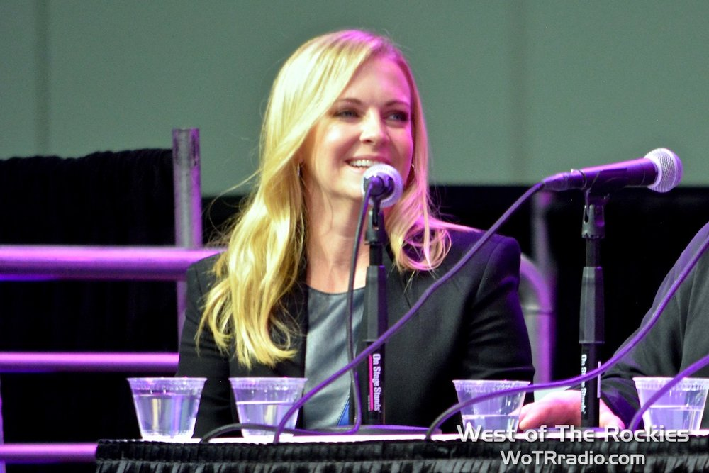 "Melissa Joan Hart on the main stage during the ""Sabrina, the Teenage Witch Reunion"" panel."