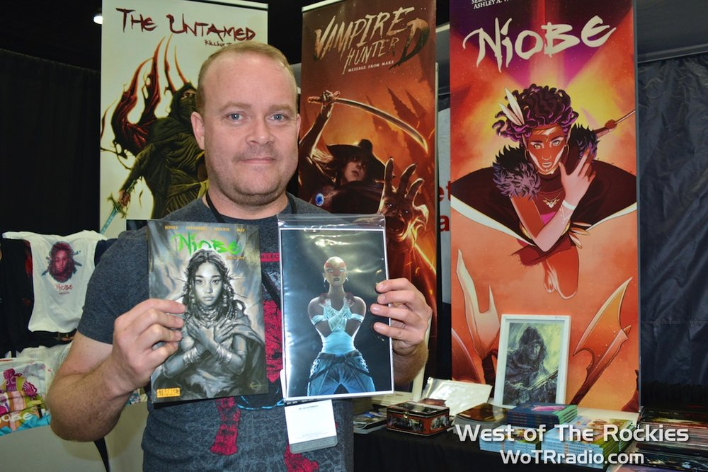 Darrell May creator of Niobe, one of the stand-out titles at this year's Stan Lee's L.A. Comic Con.