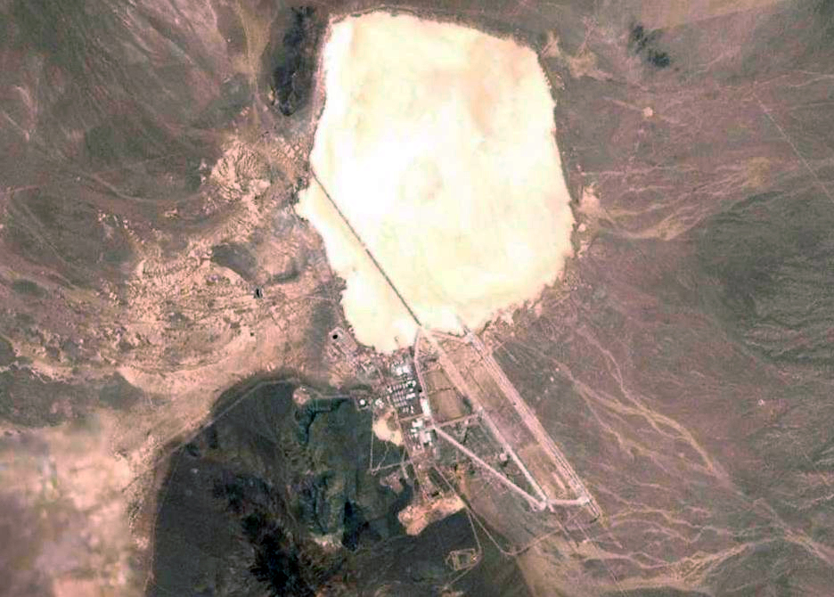 Areal view of  Area 51  located in Lincoln County, Nevada.