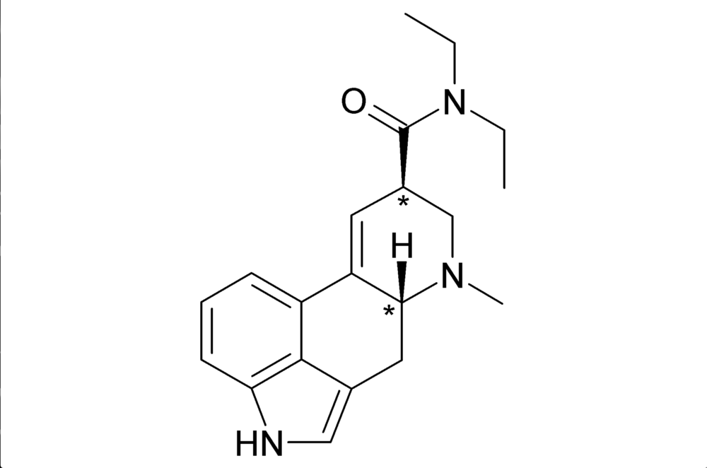 Chemical Structure of  LSD  (Lysergic acid diethylamide)