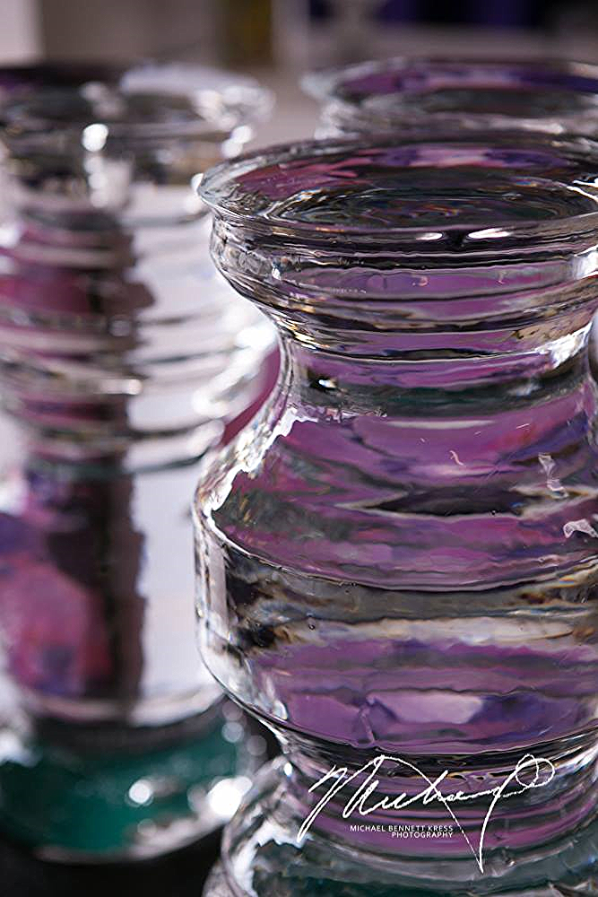 Flower Vase Ice Lathe Sculpture, Ice Lab Washington D.C.