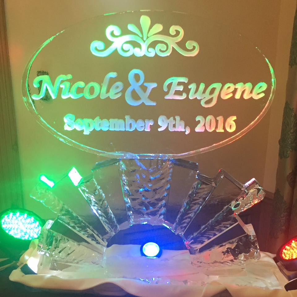 custom wedding ice sculpture baltimore