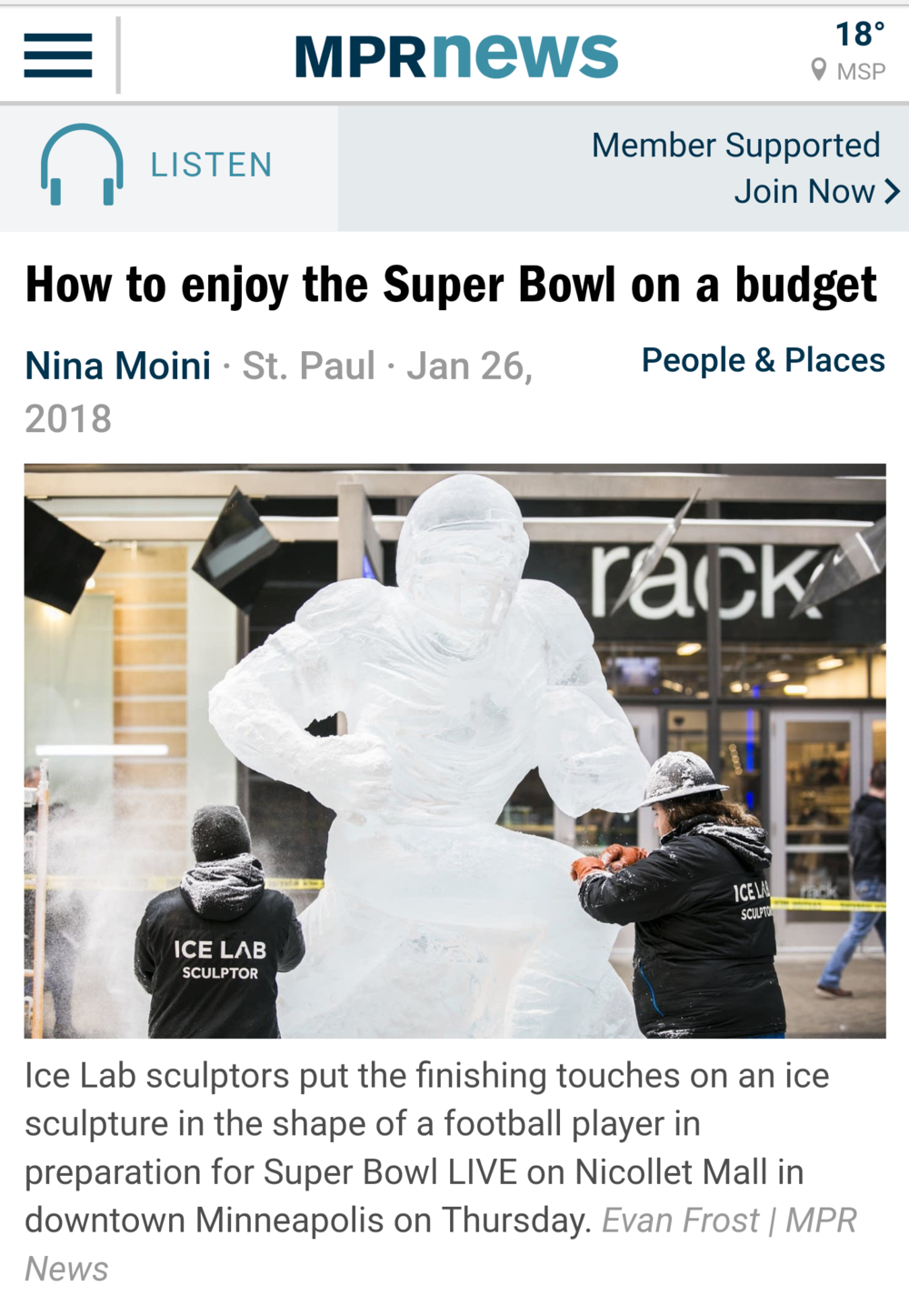 Official Super Bowl Ice Sculptors