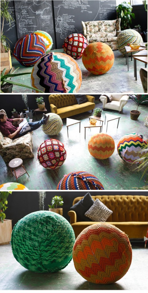 Knitted Yoga Balls