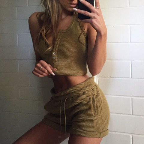 Bailey Ribbed Top & Shorts | $85