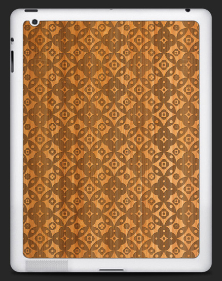 I designed a laser engraved bamboo skin for the iPad 2 for  Grove . You can purchase my skin  here .