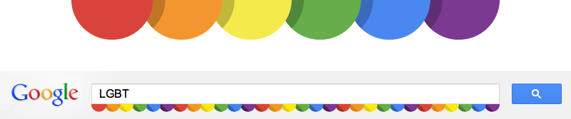 For the second year in a row I was honored to have been asked to make a small illustration for Google's global celebration of things LGBT & Pride related. As Pride events happen globally throughout the month your local search results will feature my little scalloped rainbow illustration. Lot's of love to my LGBT friends out there! No pun intended ;)