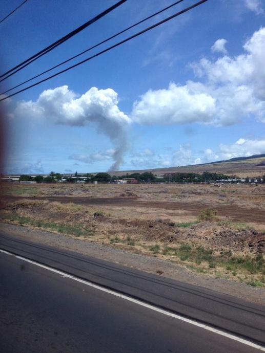 "Above: ""Puʻukoliʻi fire, 9/9/14."" Credit - Lada Murphy"