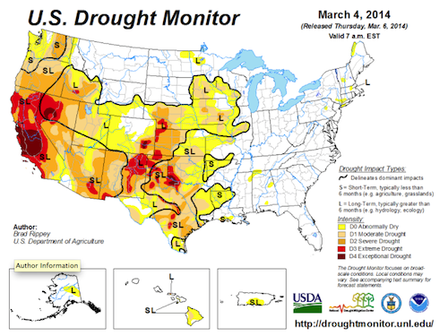Above: Courtesy of U.S. Drought Monitor