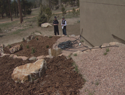"Above: ""The placement and materials used in a flowerbed can make a big difference in your home's vulnerability to wildfire."" Credit: CBS Denver"