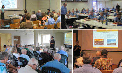 Above: Series of Ready, Set, Go! Wildfire Preparedness Workshops put on by HWMO.