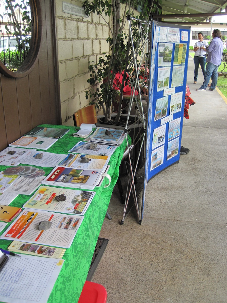 Last year's booth at the Career and Job Fair.