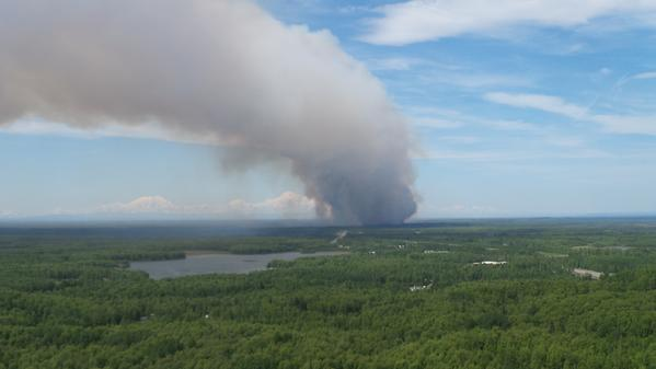 """Willow wildfire grows to nearly 1,100 acres as state requests Anchorage, Outside help..."""