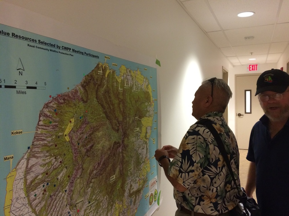 Adding input to our CWPP map for Kauai.