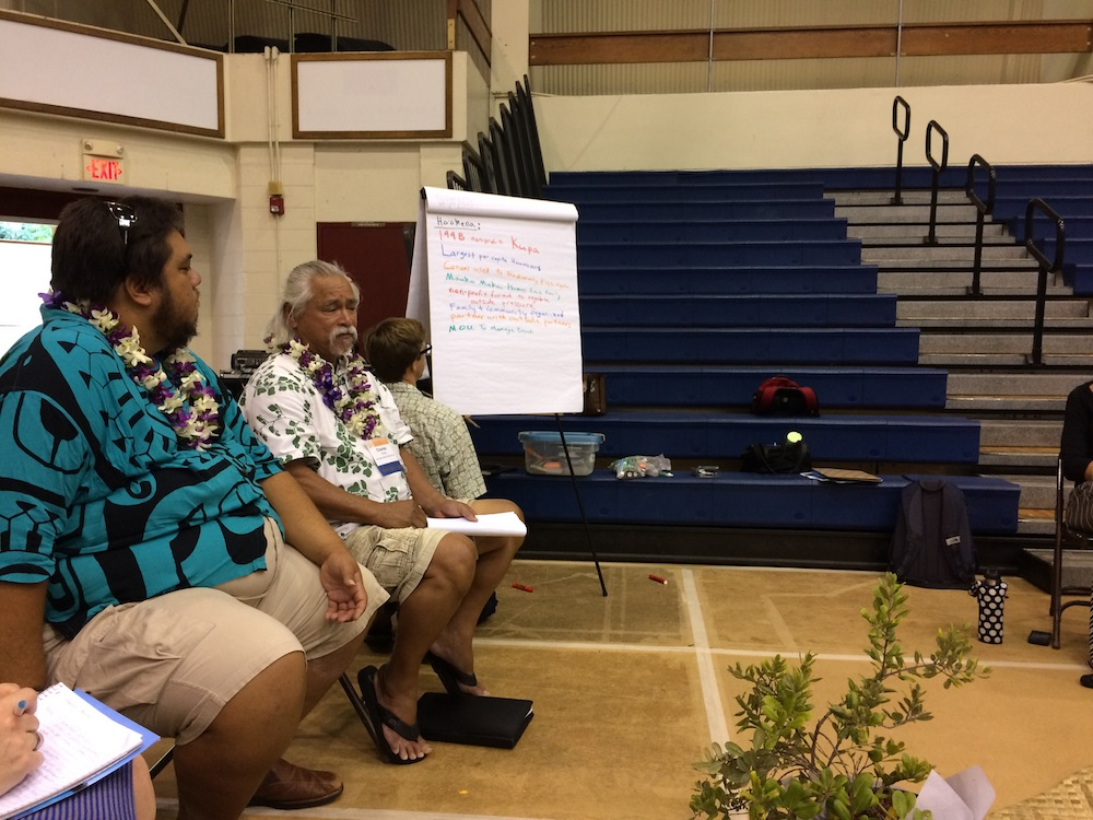 Community members from South Kona share their lessons learned establishing community-based subsistence fishing efforts.