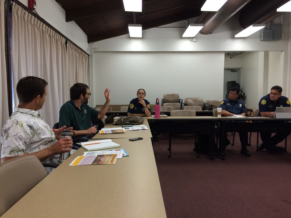 OWIE representatives discuss coordinated inter-agency El Niño wildfire prevention and preparedness messaging.