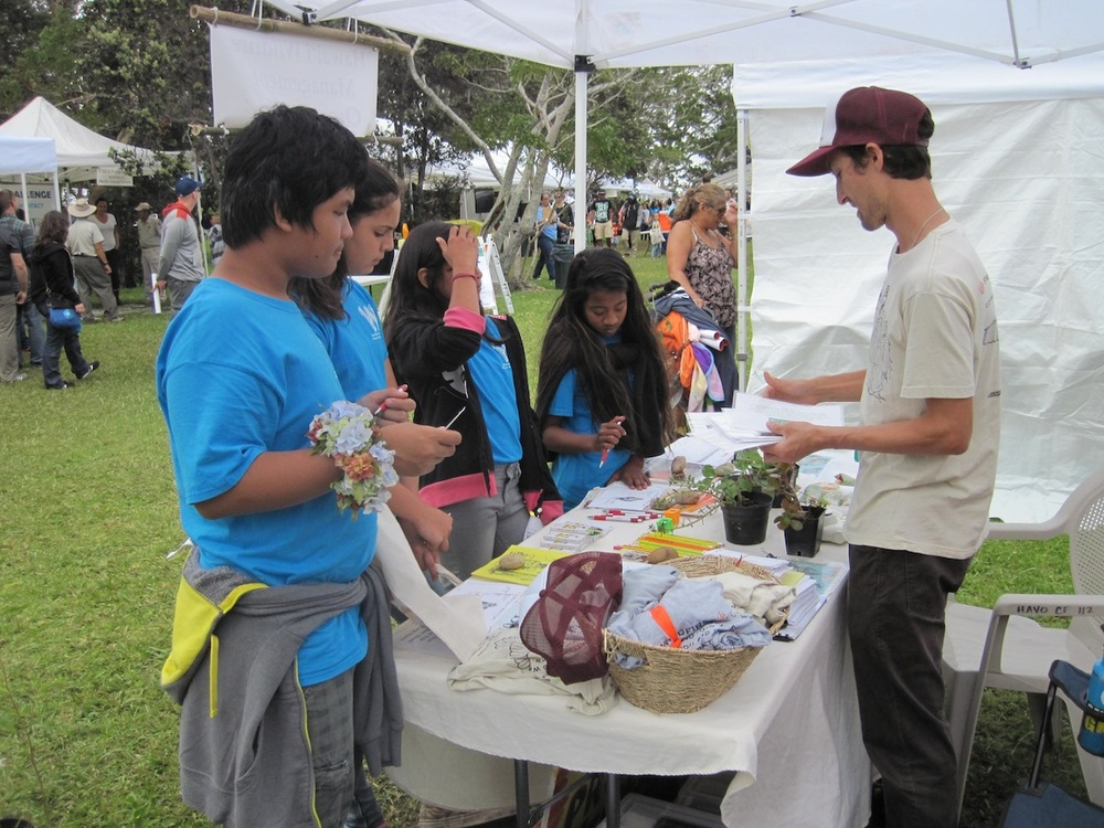 Numerous students dropped by last yearʻs event to learn about native Firewise plants and fire ecology.