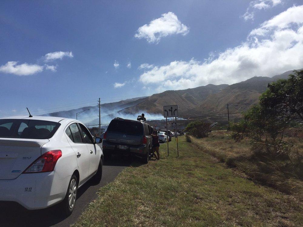 Road closures led traffic to a halt. Credit: KK Blogs/Twitter