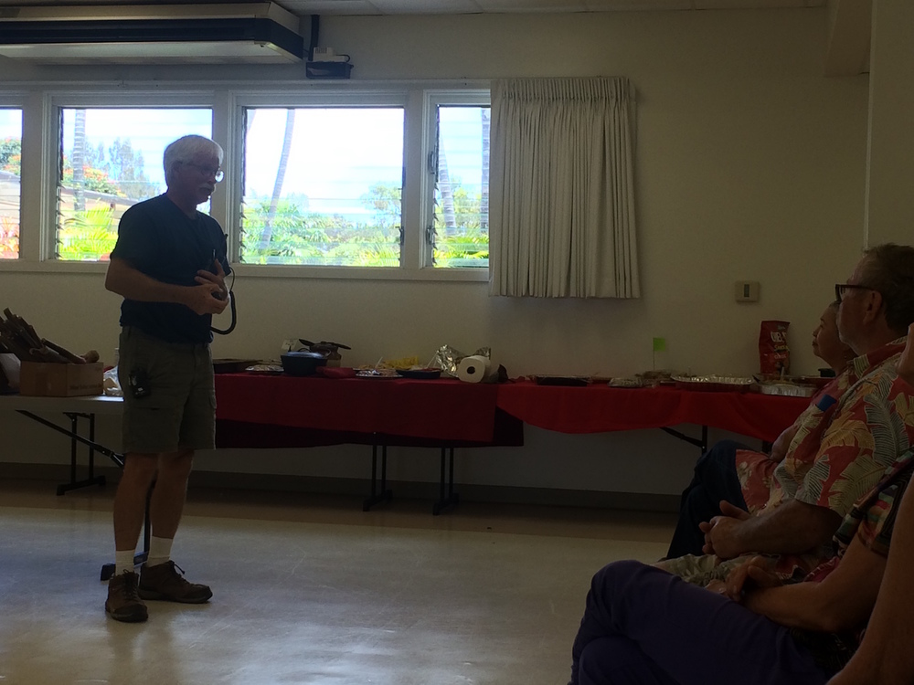 Paauilo volunteer firefighter shares an update on new resources including new radios.