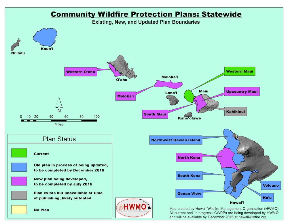 Currently there are several updates to Community Wildfire Protection Plans in the works, as well as new plans being developed.