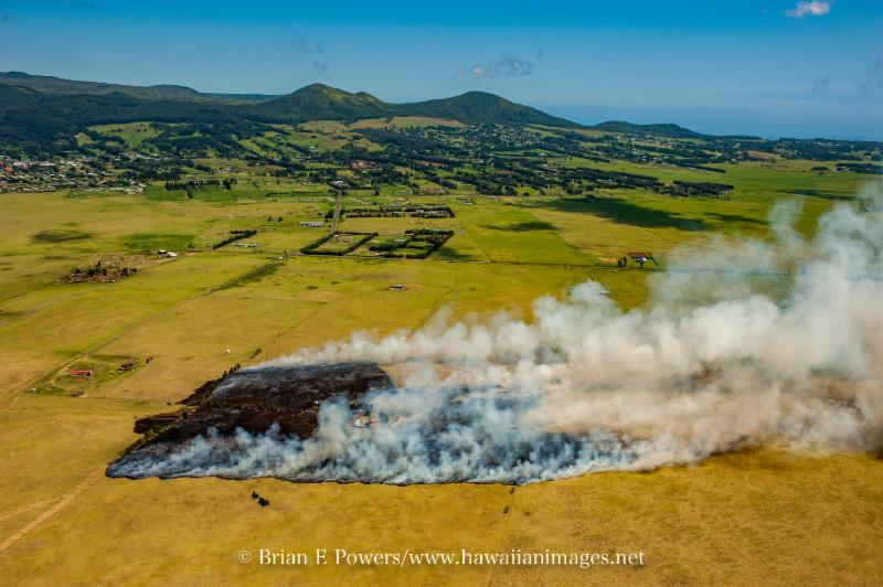 Puu Kapu fire in April 2016. Photo credit: Brian Powers