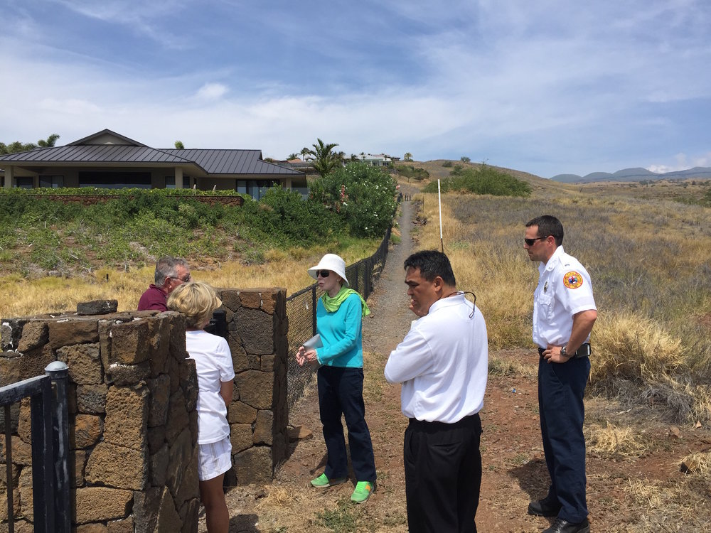 HFD, Hawaiiana Management Company, HWMO meeting with Kohala Waterfront residents.